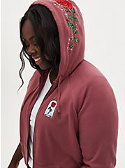 Disney Beauty and the Beast Rose Zip French Terry Hoodie, MULTI, hi-res