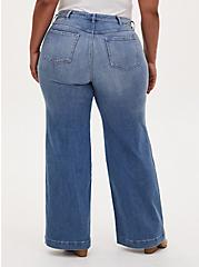 High Rise Wide Leg Jean - Vintage Stretch Light Wash , KARMA, alternate