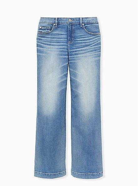 High Rise Wide Leg Jean - Vintage Stretch Light Wash , KARMA, hi-res