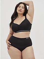 Plus Size Black 360° Back Smoothing™ Lightly Lined Everyday WireFree Sports Bra, RICH BLACK, alternate