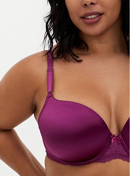 Plum Purple 360° Back Smoothing™ Push-Up T-Shirt Bra, DEEP RUBY, alternate