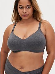 Heather Grey 360 Back Smoothing™ Lightly Lined Everyday Wire-Free Bra, CHARCOAL  GREY, hi-res