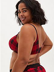 Red Buffalo Plaid 360° Back Smoothing™ Lightly Lined Everyday Wire-Free Bra, SPLAT PLAID, alternate