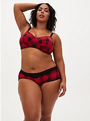 Red Buffalo Plaid 360° Back Smoothing™ Lightly Lined Everyday Wire-Free Bra, , fitModel1-alternate