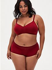 Dark Red 360 Back Smoothing™ Lightly Lined Everyday Wire-Free Bra, BIKING RED, alternate
