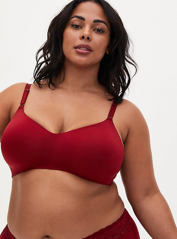Dark Red 360 Back Smoothing™ Lightly Lined Everyday Wire-Free Bra, BIKING RED, hi-res