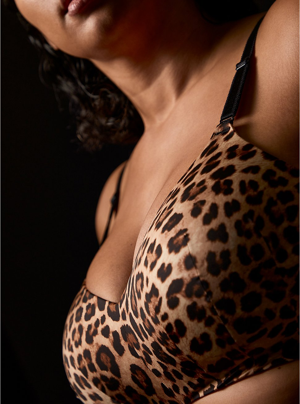 Leopard Print 360° Back Smoothing™ Lightly Lined Everyday Wire-Free Bra, FIFTIES LEOPARD BEIGE, hi-res