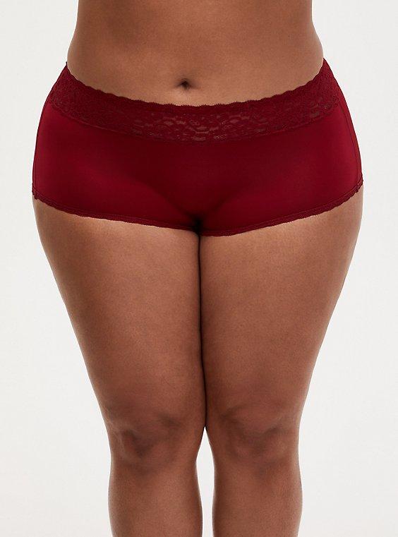 Dark Red Second Skin Brief Panty, BIKING RED, hi-res