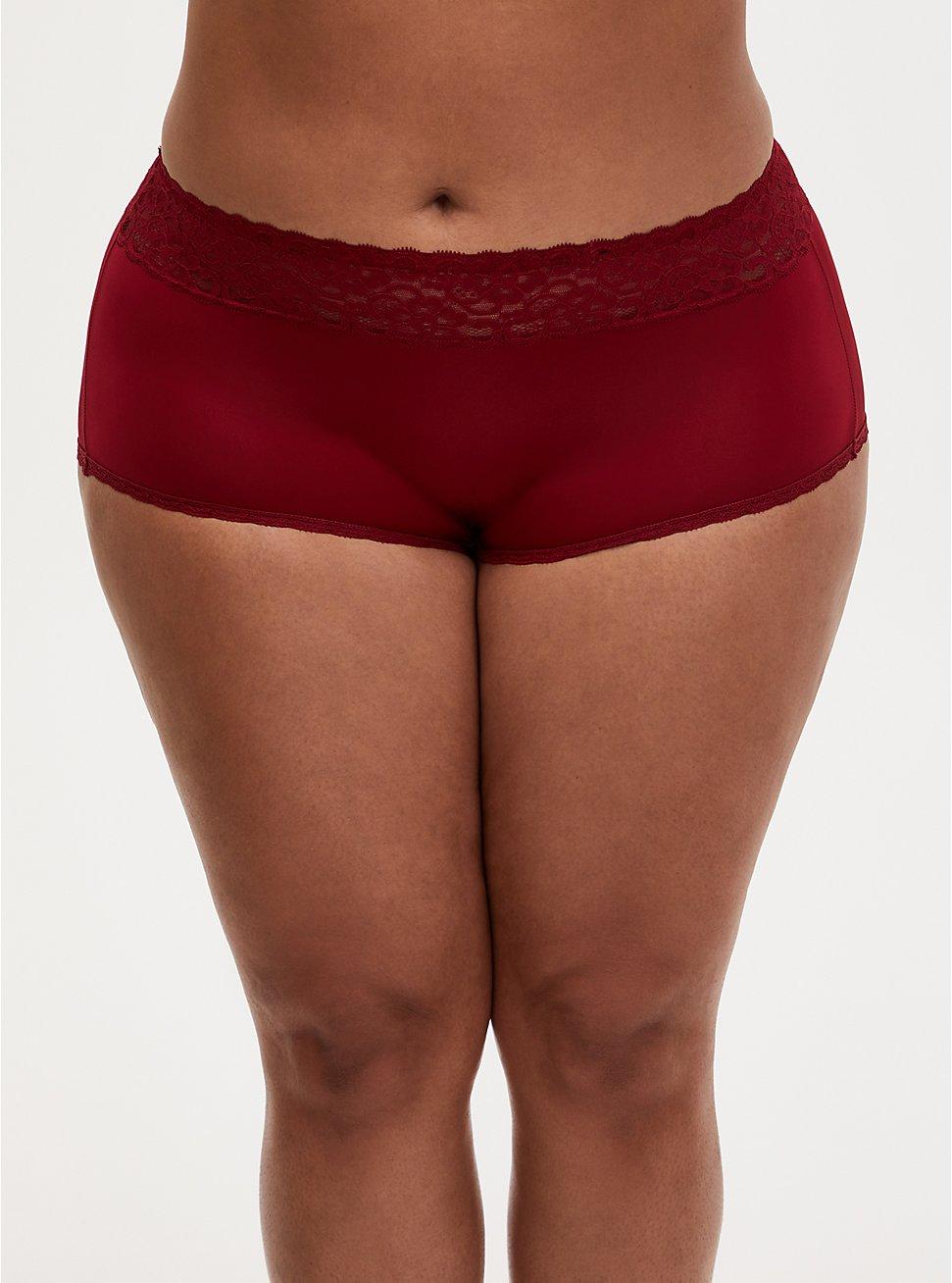 Dark Red Second Skin Brief Panty, , hi-res