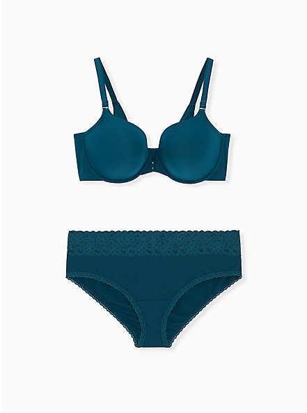Teal Second Skin Hipster Panty, REFLECTING POND, alternate