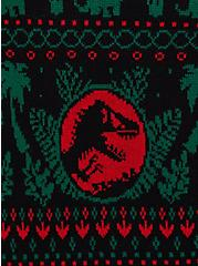 Jurassic Park Ugly Christmas Pullover Sweater, MULTI, alternate