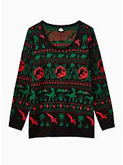 Jurassic Park Ugly Christmas Pullover Sweater, MULTI, hi-res