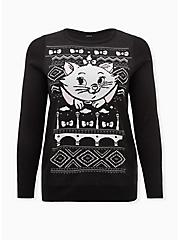 Plus Size Disney The Aristocats Marie Black Ugly Sweater, MULTI, hi-res
