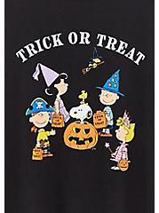 Peanuts Trick Or Treat Slim Fit Raglan Tee - Black, BLACK, alternate