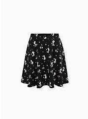 Disney The Little Mermaid Ariel Black Jersey Skater Skirt, MULTI, hi-res