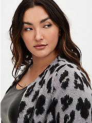 Disney Minnie Mouse Grey Leopard Longline Cardigan , MULTI, alternate