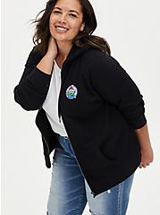Disney Pixar Toy Story Alien Holiday Black Fleece Zip Hoodie, DEEP BLACK, alternate