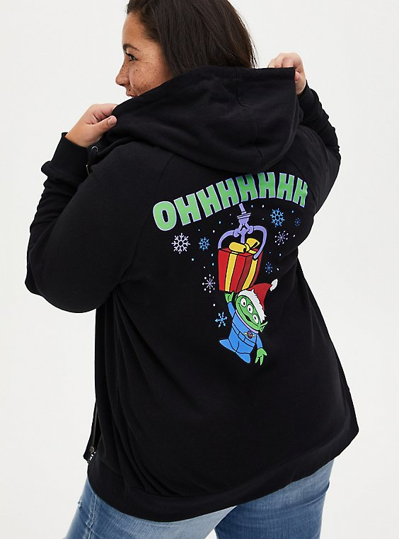 Disney Pixar Toy Story Alien Holiday Black Fleece Zip Hoodie, , hi-res