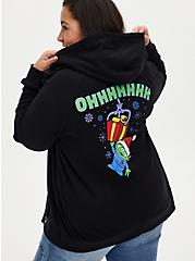 Disney Pixar Toy Story Alien Holiday Black Fleece Zip Hoodie, DEEP BLACK, hi-res