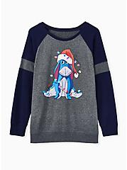 Disney Winnie The Pooh Eeyore Holiday Grey Fleece Sweatshirt, GRAY HTR, hi-res