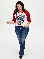Disney Lilo & Stitch Holiday Stitch Raglan Top, MULTI, alternate