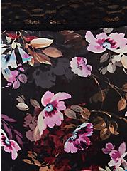 Black Floral Second Skin Hipster Panty, REGAL FLORAL, alternate