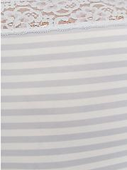 Grey Stripe Second Skin Brief Panty, GREY STRIPE, alternate