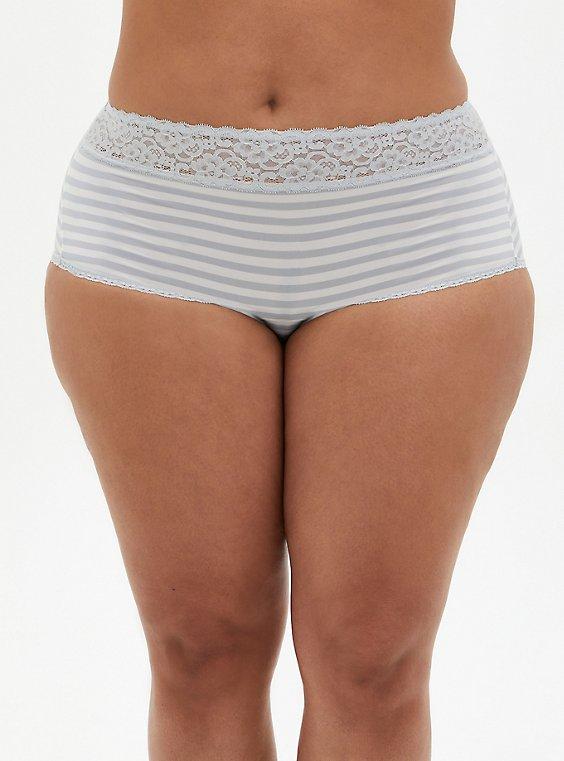 Grey Stripe Second Skin Brief Panty, GREY STRIPE, hi-res