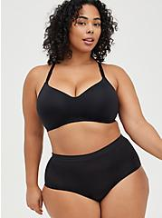 Plus Size Black Second Skin Brief Panty , RICH BLACK, alternate