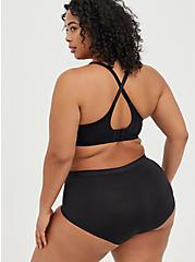 Black Second Skin Brief Panty , RICH BLACK, alternate