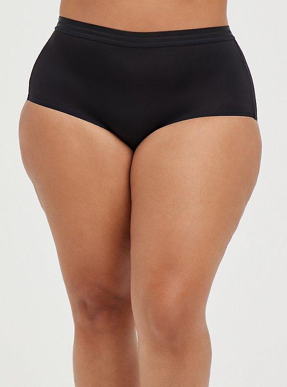 Black Second Skin Brief Panty , RICH BLACK, hi-res