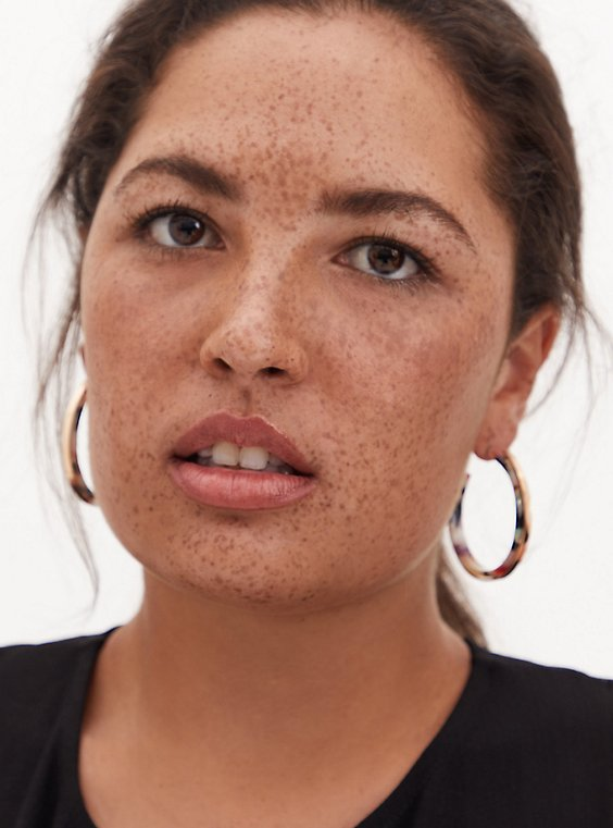 Multicolor Resin Hoop Earrings, , hi-res