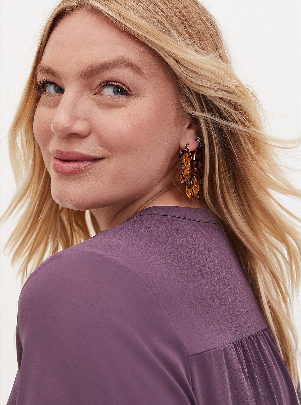 Tortoiseshell Resin Floral Statement Earrings, , hi-res