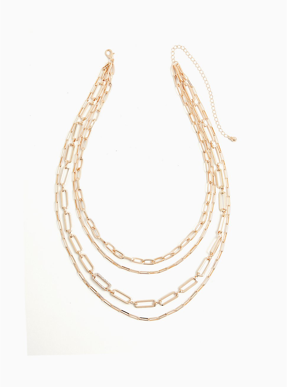 Gold-Tone Link Layered Necklace, , hi-res