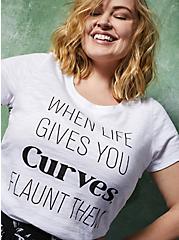 When Life Gives You Curves Slim Fit Crew Tee - Slub White, BRIGHT WHITE, hi-res