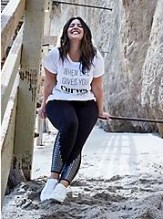 When Life Gives You Curves Slim Fit Crew Tee - Slub White, BRIGHT WHITE, hi-res