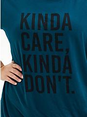 Kinda Care Slim Fit Crew Tee - Teal, , alternate