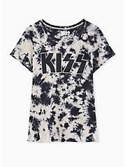 Kiss Crew Tee - Tie-Dye Black & White, BRIGHT WHITE, hi-res