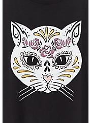 Muerta Cat Slim Fit Crew Tee - Black, DEEP BLACK, alternate