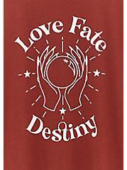 Love Fate Destiny Slim Fit Crew Tee - Brick Red, MADDER BROWN, alternate