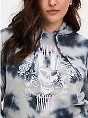Guns  N' Roses White & Grey Tie-Dye Fleece Hoodie, BRIGHT WHITE, alternate