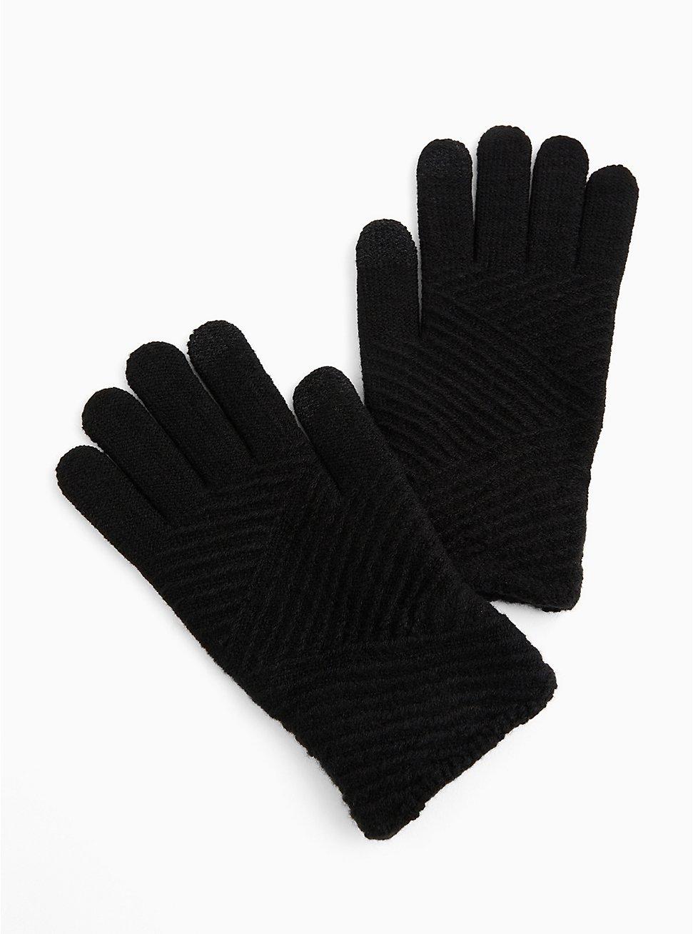 Black Texting Gloves, , hi-res