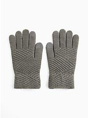 Charcoal Grey Texting Gloves, , alternate