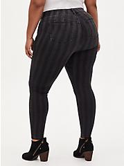 Bombshell Skinny Jean - Super Soft Black Stripe, BLACK STRIPE, alternate