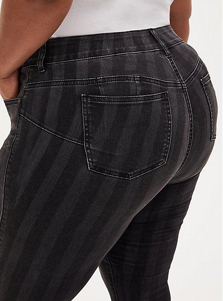Bombshell Skinny Jean - Super Soft Black Stripe, BLACK STRIPE, alternate