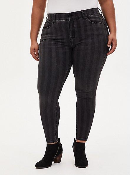 Bombshell Skinny Jean - Super Soft Black Stripe, BLACK STRIPE, hi-res
