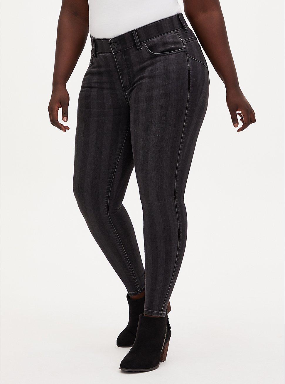 Bombshell Skinny Jean - Super Soft Black Stripe, , fitModel1-hires