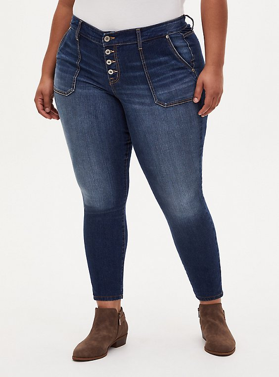 Plus Size Mid Rise Skinny Jean - Vintage Stretch Medium Wash, UNDERCOVER, hi-res