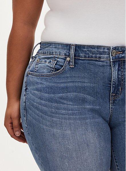 Mid Rise Skinny Jean - Vintage Stretch Medium Wash, KIKI, alternate