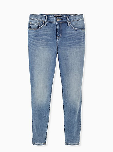 Mid Rise Skinny Jean - Vintage Stretch Medium Wash, KIKI, hi-res